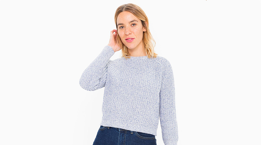 American Apparel Cropped Fisherman Pullover