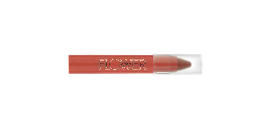 Flower Lip Suede Velvet Lip Chubby Floral Coral