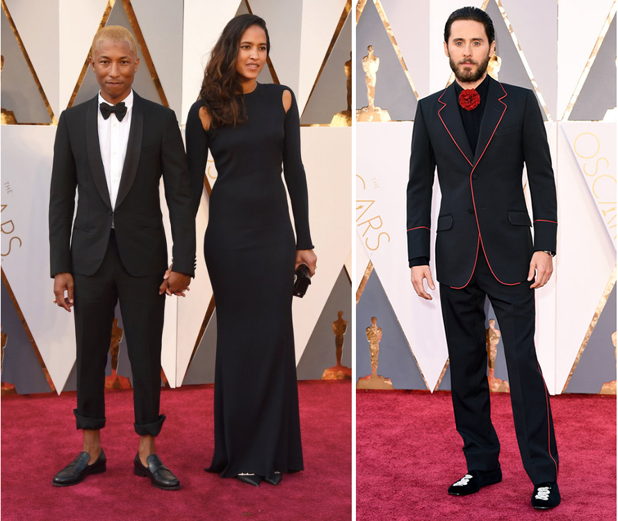 Pharrell Williams Jared Leto Oscars 2016