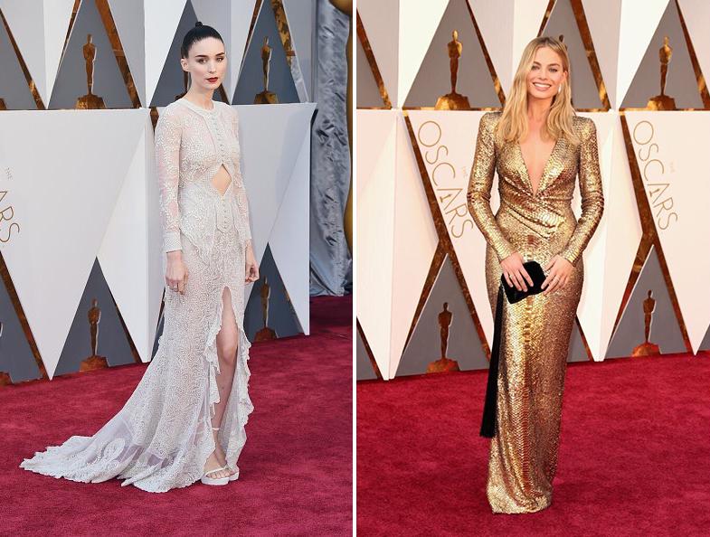 Rooney Mara Margot Robbie Oscars 2016