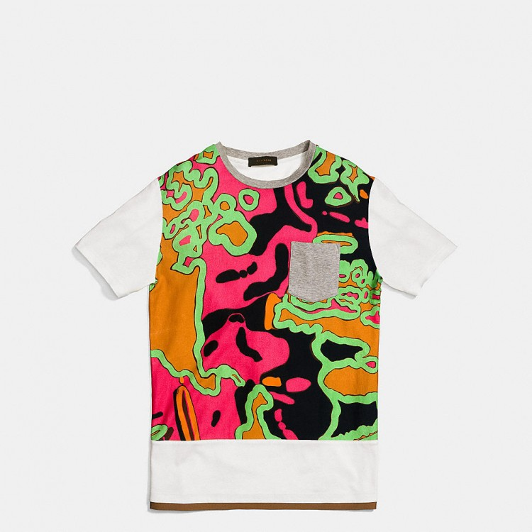 PSYCHEDELIC Swirl Tee Shirt with Band
