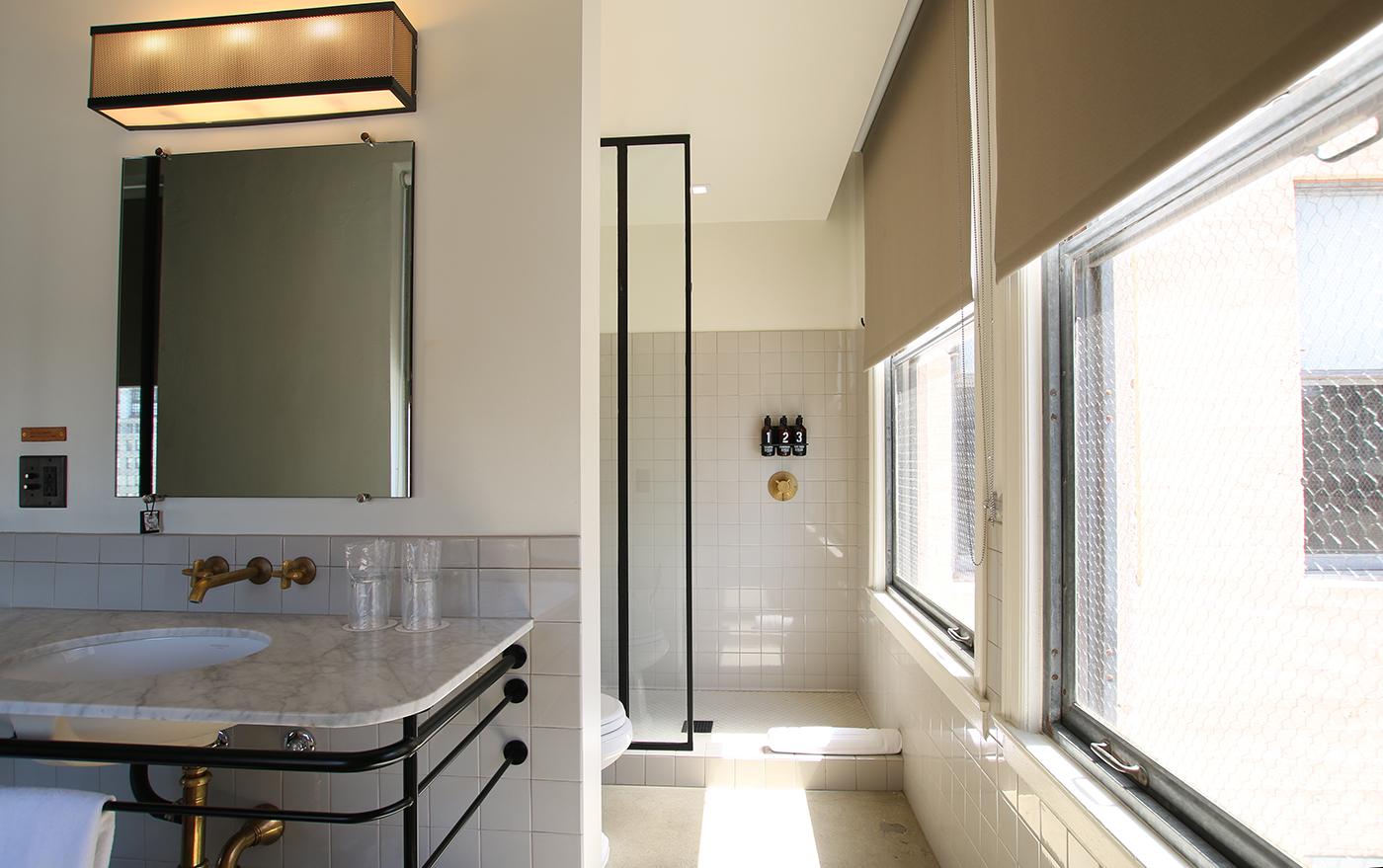Ace Hotel LA Bathroom Shower