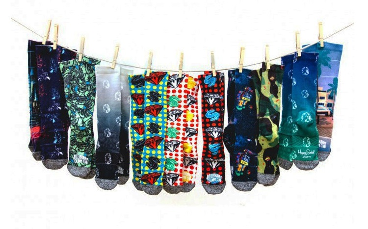 Happy Socks x Billionaire Boys Club Exclusive Sock Collection-1