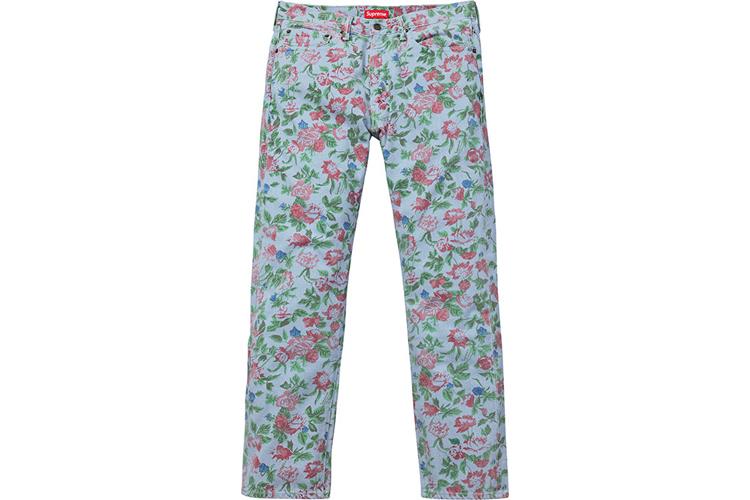 Supreme Levis SS16 floral jeans