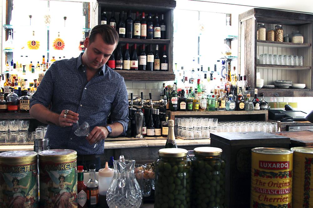 Tyler Newsome Soho House Bartender