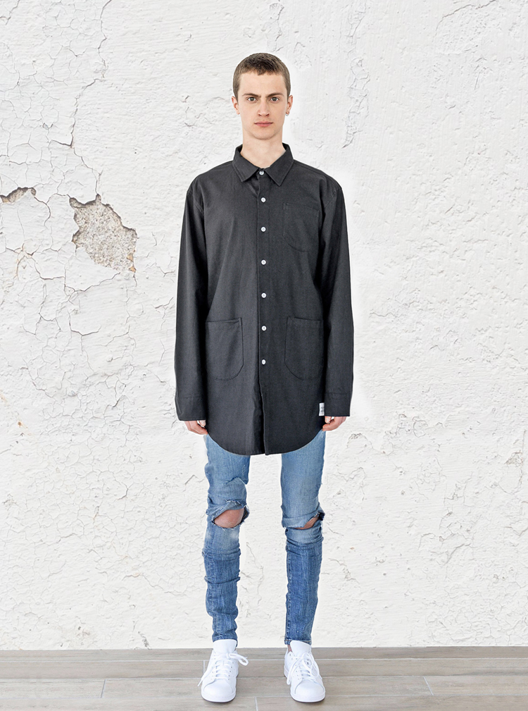 elongated-button-down-canvas-shirt-black-profound-aesthetic-spring-lookbook1