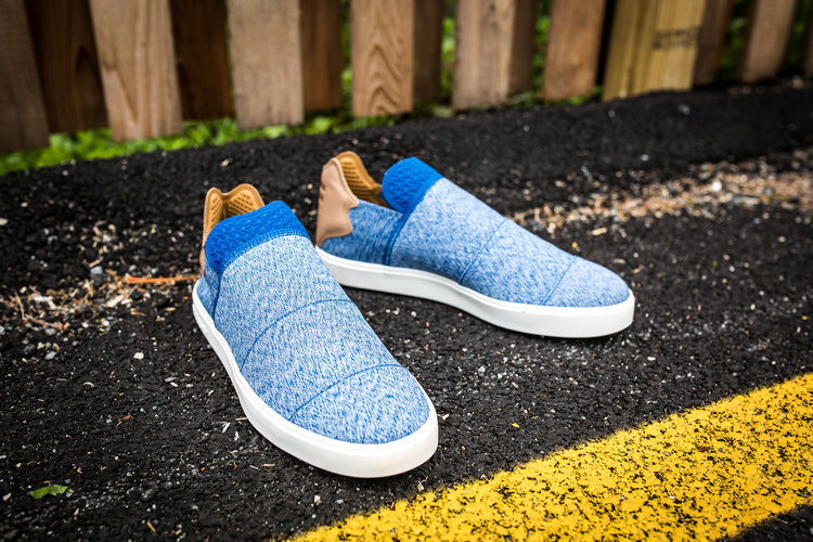 adidas Consortium x Pharrell Pink Beach Slip On Blue 1