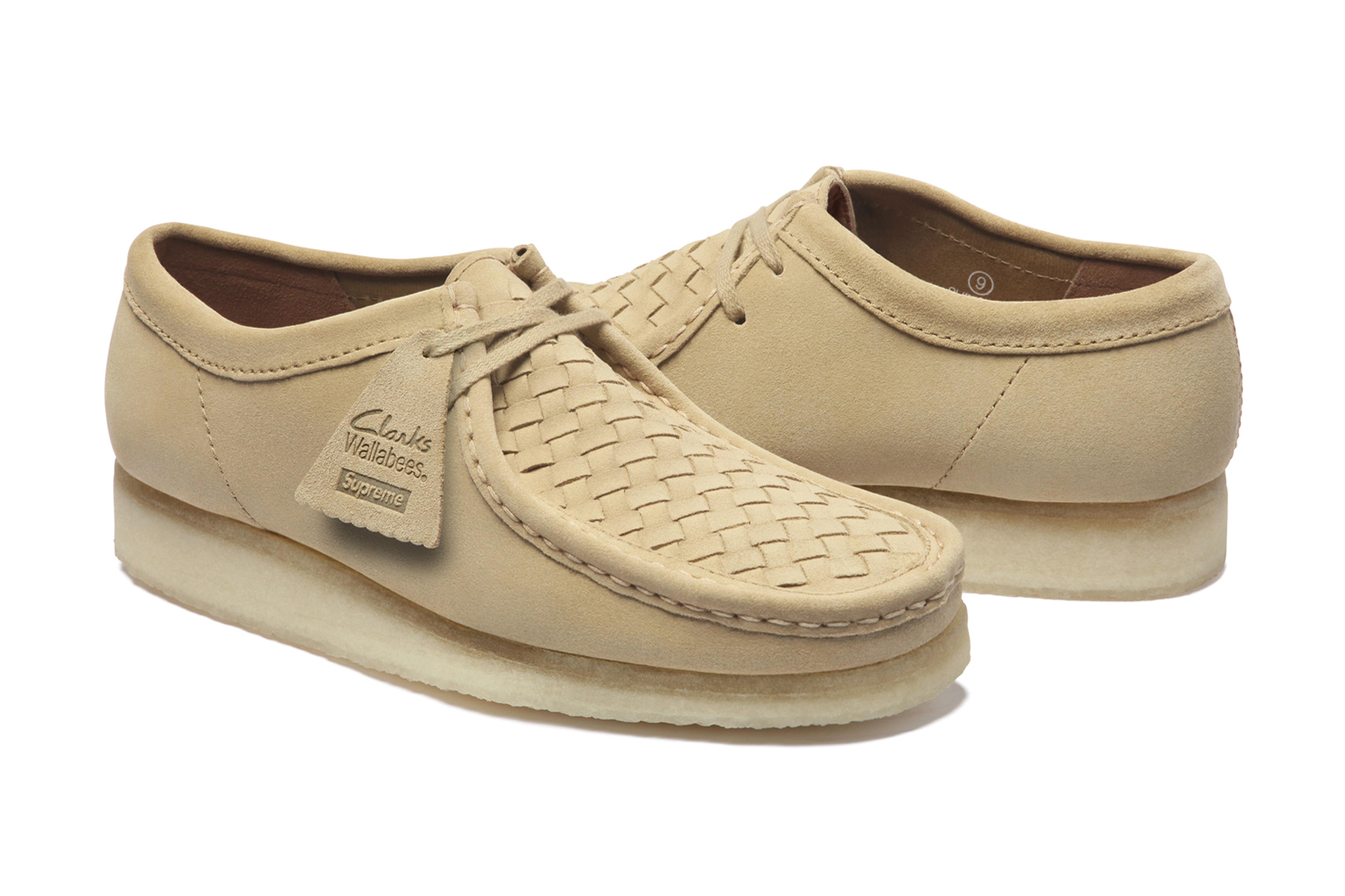 supreme x clarks low cut natural