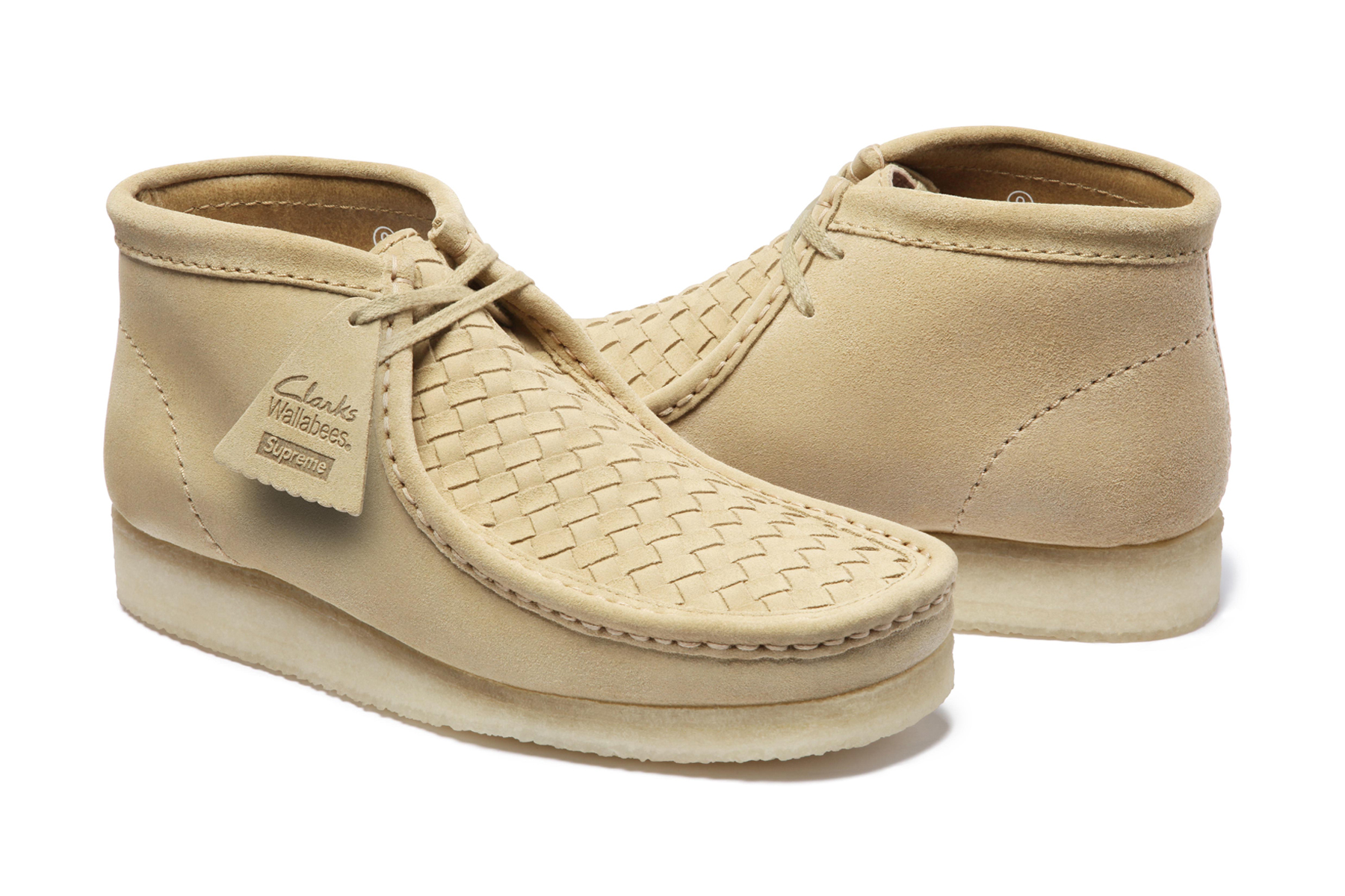 supreme x clarks natural