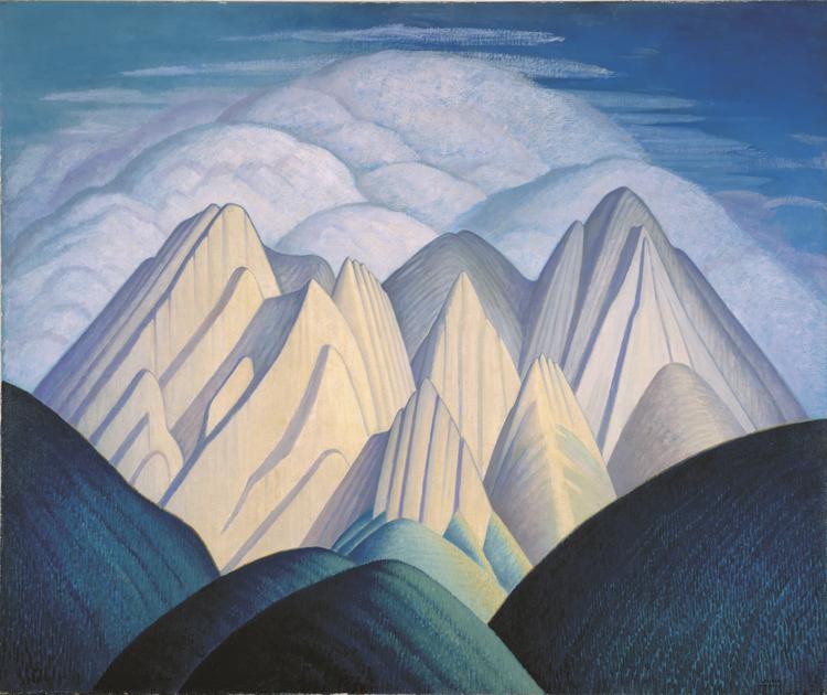 1934_Mountains-Near-Jasper_Mendel