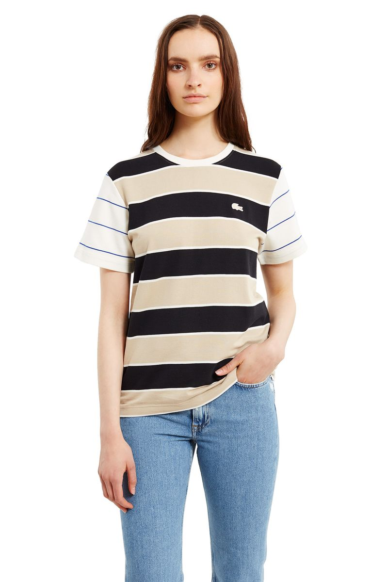 Lacoste x Opening Ceremony Capsule Color Blocked Stripe Tshirt