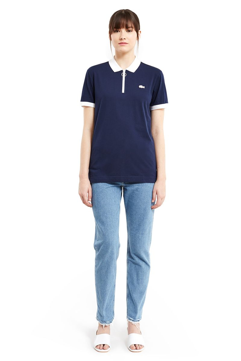 Lacoste x Opening Ceremony Capsule Zipper Polo Navy