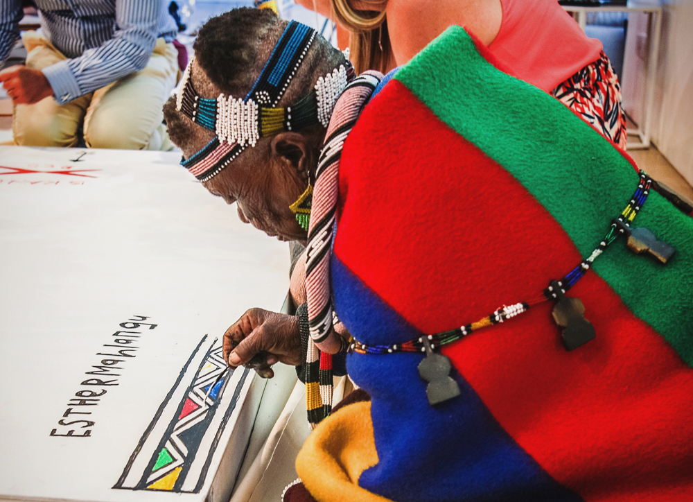 Esther Mahlangu - Belvedere RED