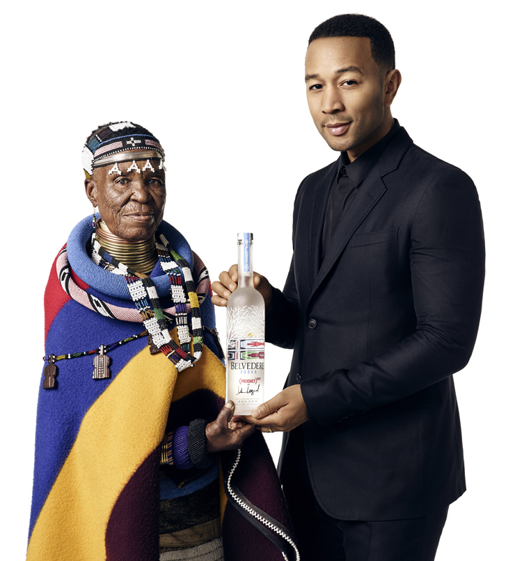 JOHN LEGEND ESTHER MAHLANGU Belvedere RED