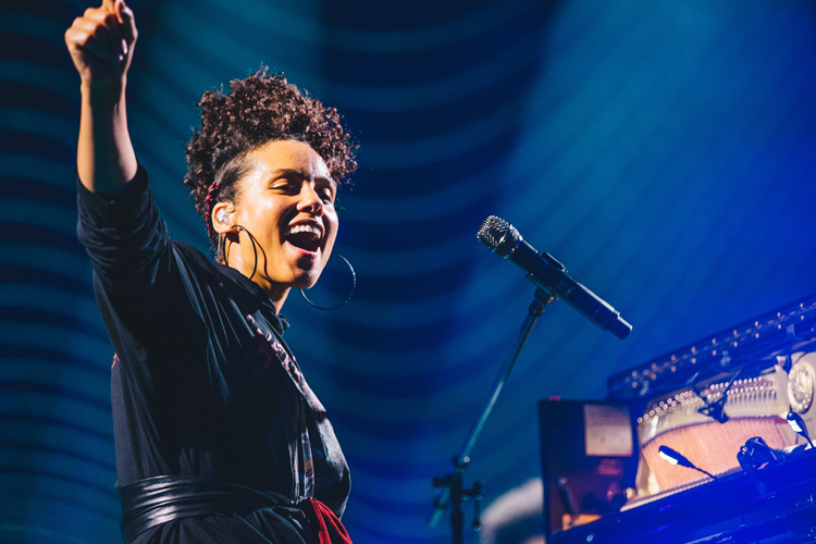Alicia Keys performs at Apple Music Festival London, 20 September 2016, Photo by: Danny North © APPLE.