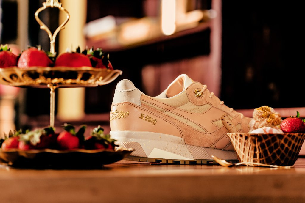Feature x Diadora Strawberry Gelato N.9000 Sneaker 2