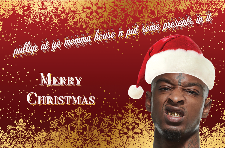 21 Savage Christmas.21 Savage Brings The Christmas Cheer Sidewalk Hustle