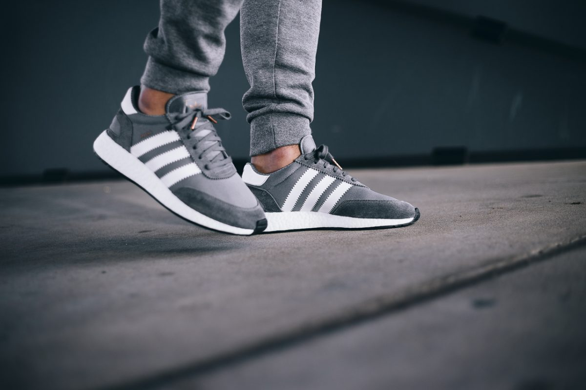 cheap for discount 5c2a4 fa429 The shoes come in two classic colourways including the grey as seen here,  and are available now from adidas Originals retailers including BTSN store.