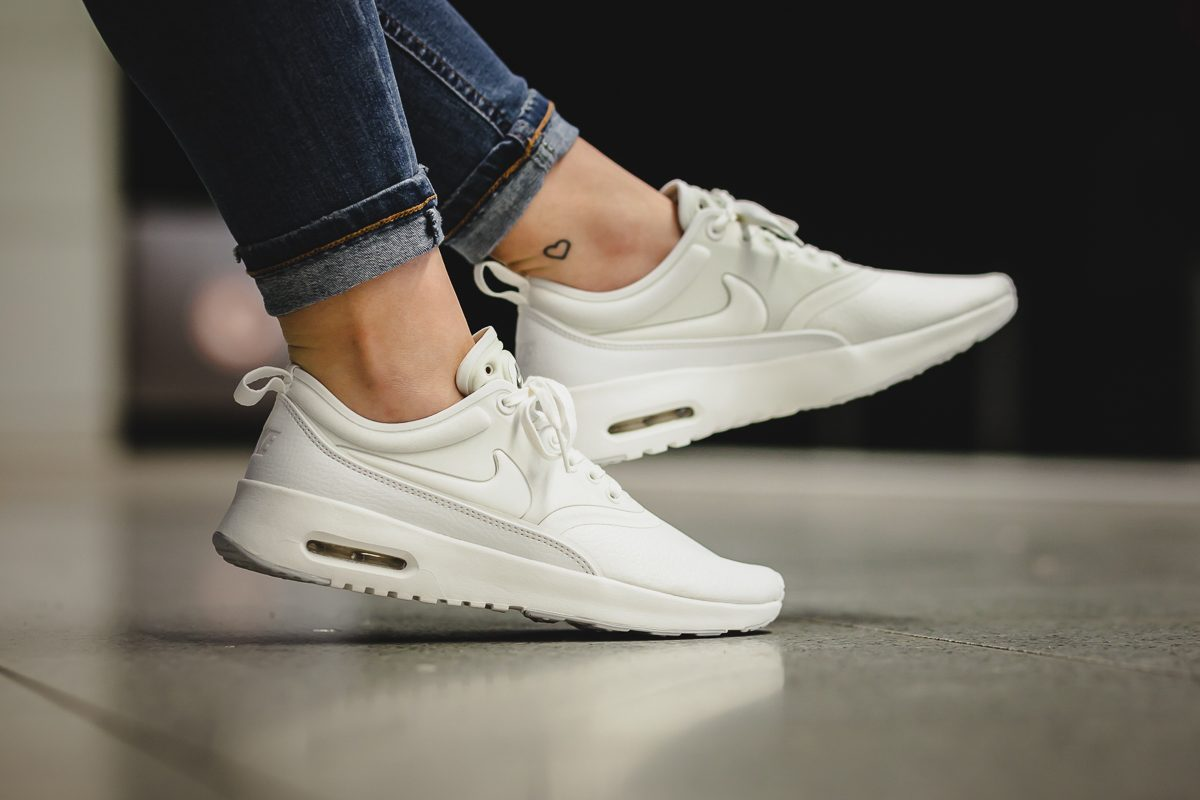 nike air max thea premium white sidewalk hustle. Black Bedroom Furniture Sets. Home Design Ideas