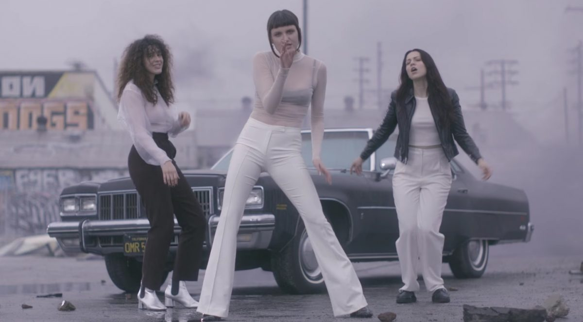 Clip from MUNA's music video/queer band