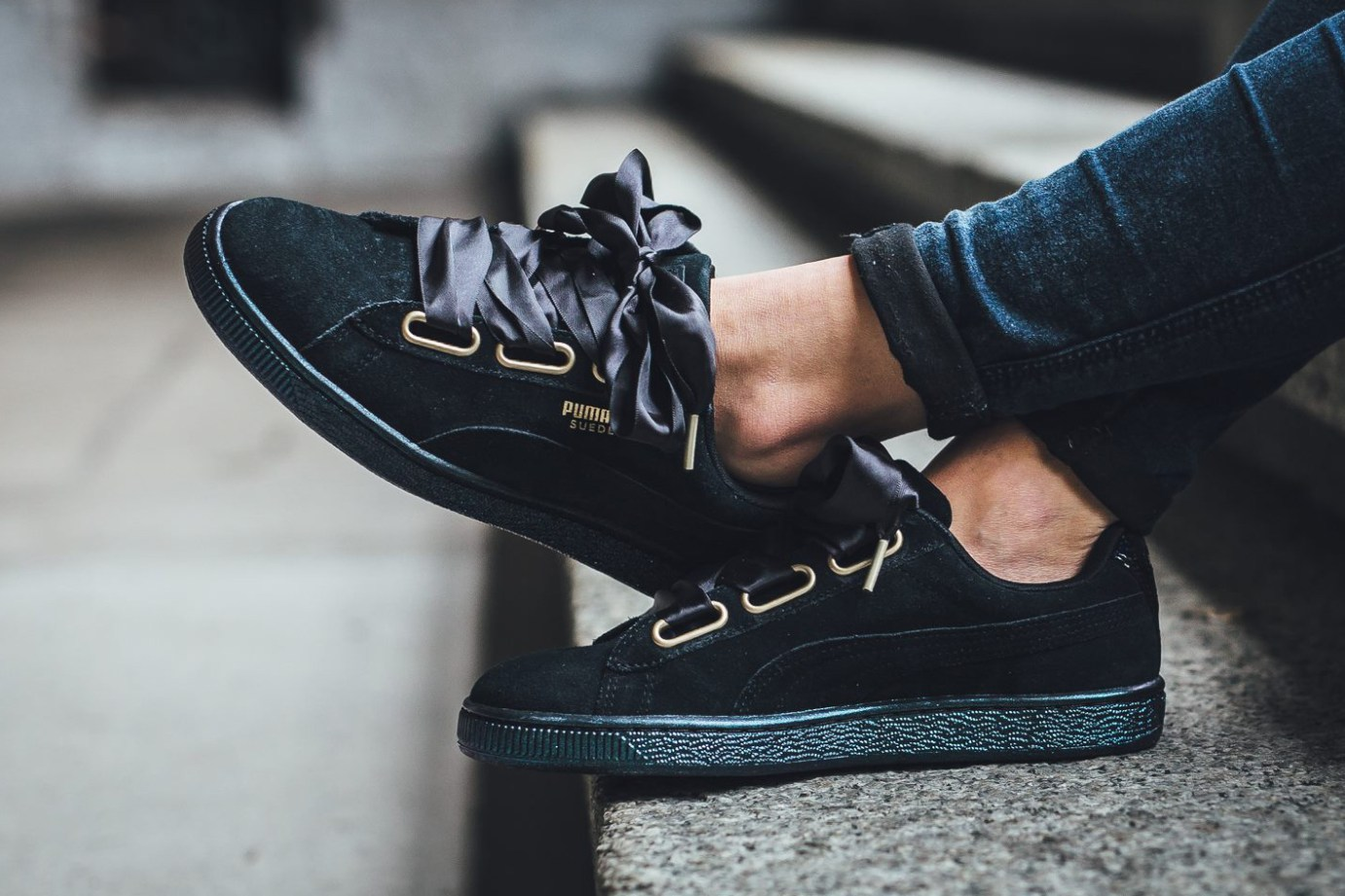 new concept a3483 5740b PUMA Unveils Suede Heart Satin in Black | Sidewalk Hustle