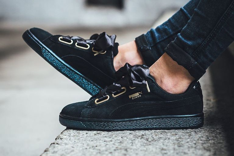 160001108096 The new PUMA Suede Heart Satin retails for $99.90 USD and is available now  at select PUMA stockists.