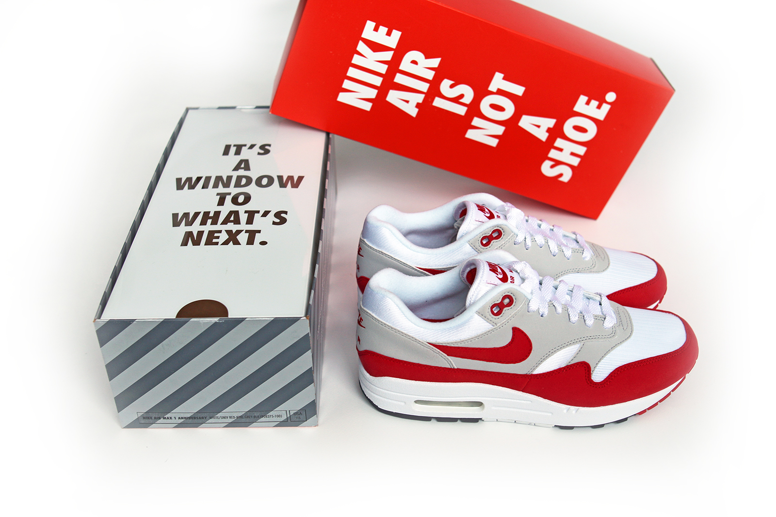 ... wholesale peep the nike air max 1 og sport red in all its glory below. c52211a59