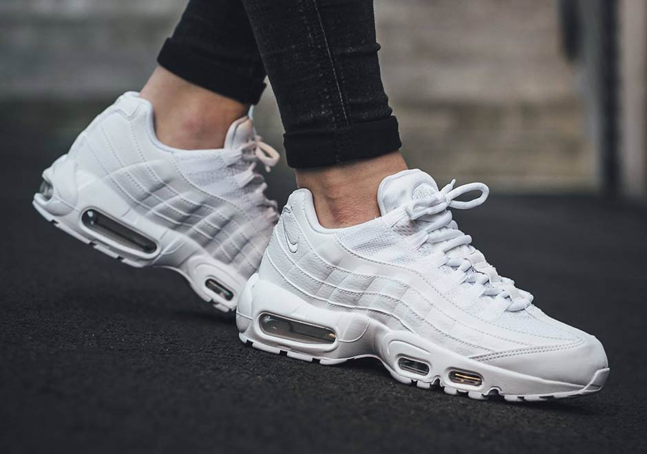 d1ded5301b3b9 Nike Air Max 95 Triple White 2017 | Sidewalk Hustle