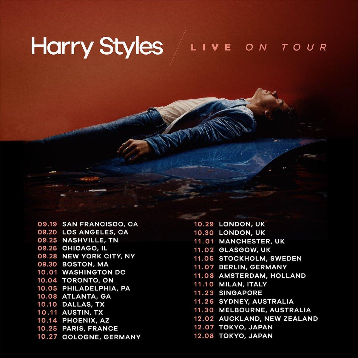 Concert Tour: Harry Styles Announces World Tour